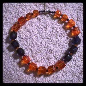 Jewelry - Orange and blue necklace